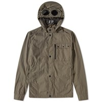 C.P. Company Garment Dyed Goggle Overshirt Green