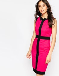 Paper Dolls Paperdolls Midi Dress With Contrast Stripe Pink