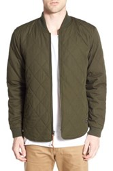 Obey 'Parker' Quilted Cotton Jacket Green