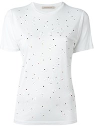 Christopher Kane Gem Embellished T Shirt White