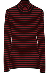 Gucci Striped Wool Turtleneck Sweater Red