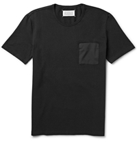 Maison Martin Margiela Contrast Pocket Cotton And Linen Blend Sweatshirt Black