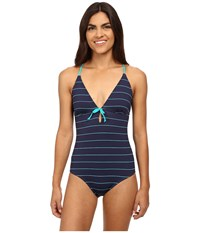 Carve Designs Nosara Full Piece Anchor Coastal Women's Swimsuits One Piece Blue