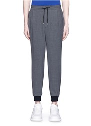 Mcq By Alexander Mcqueen Tailored Wool Crepe Trackpants Grey