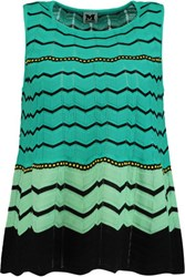 M Missoni Crochet Knit Top Jade