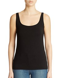 Lord And Taylor Petite Iconic Fit Slimming Scoopneck Tank Black
