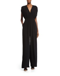 Camilla And Marc Cap Sleeve Flowy Wide Leg Jumpsuit