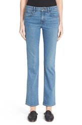 Women's Helmut Lang Skinny Flare Crop Jeans Light Blue
