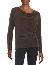 Michael Michael Kors Metallic Mesh Blouse Chocolate