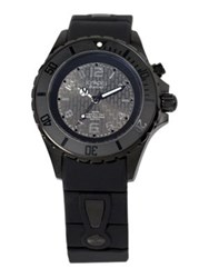Kyboe Power Black Silicone And Blackened Stainless Steel Strap Watch 40Mm