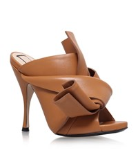 N 21 No. 21 Leather Bow Mules Female Tan