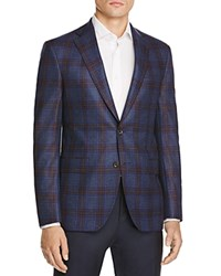 Jack Victor Loro Piana Plaid Favola Classic Fit Sport Coat 100 Bloomingdale's Exclusive Navy Rust Blue