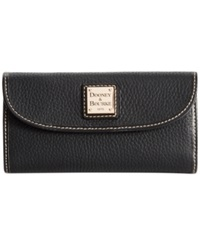 Dooney And Bourke Pebble Continental Clutch Black Black