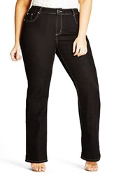 City Chic Plus Size Women's Contrast Stitch Stretch Denim Bootleg Jeans