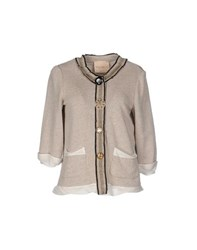 Erika Cavallini Semi Couture Erika Cavallini Semicouture Suits And Jackets Blazers Women Beige