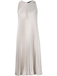 Tess Giberson Loose Fit Pleated Dress Grey