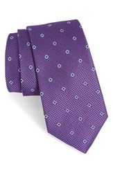 Nordstrom Men's Men's Shop Dazzle Neat Silk Tie Purple