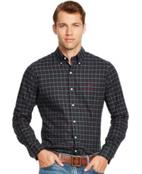 Polo Ralph Lauren Checked Twill Shirt Green Red