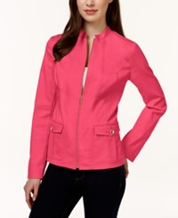 Charter Club Solid Front Zip Blazer Only At Macy's Crushed Peony