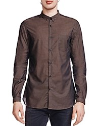The Kooples Organza Slim Fit Button Down Shirt Khaki