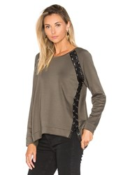 Generation Love Darcey Lace Up Sweater Olive