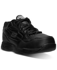 Skechers Men's Relaxed Fit Felton Altair Wide Width Work Sneakers From Finish Line Black Leather