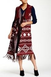 Romeo And Juliet Couture Long Fringe Vest Multi