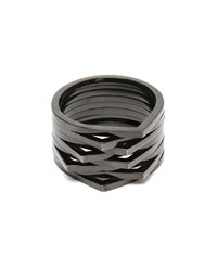Repossi 18K Black Gold 8 Rows Antifer Ring