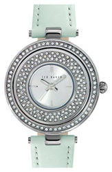 Ted Baker Crystal Dial Watch 34Mm Light Green Silver