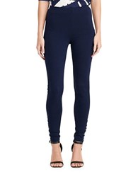 Lauren Ralph Lauren Petite Lace Up Ponte Leggings Navy
