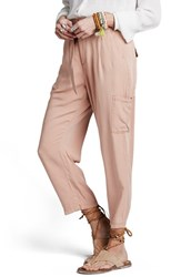 Women's Free People Crop Cargo Pants Peach