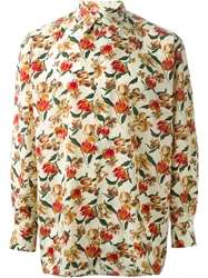 Jean Paul Gaultier Vintage Floral Print Shirt Nude And Neutrals