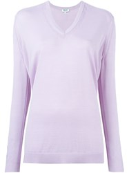 Kenzo V Neck Sweater Pink And Purple