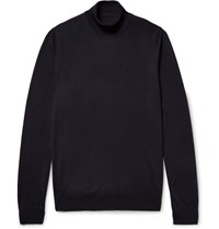 Maison Martin Margiela Merino Wool Rollneck Sweater Blue