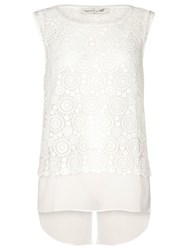 Damsel In A Dress Antique Lace Top White