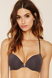 Forever 21 Lace Back Push Up Bra Charcoal