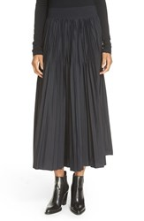 Dkny Women's Pleat Flared Midi Skirt Black