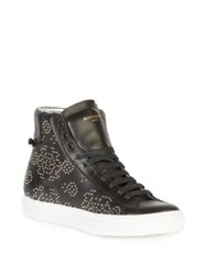 Givenchy Carpet Pattern Studded Leather High Top Sneakers Black