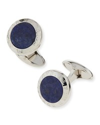 Sodalite Stone Coin Cuff Links Men's Alfred Dunhill