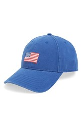 Men's Harding Lane American Flag Needlepoint Baseball Cap Blue Bright Navy
