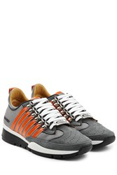 Dsquared2 Suede And Mesh Sneakers Multicolor