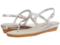 Onex Cabo Silver Leather Women's Dress Sandals