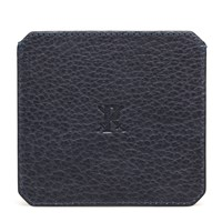 Parabellum Navy Leather Cardholder Blue