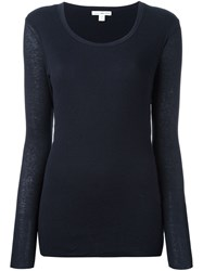 James Perse Round Neck Pullover Blue