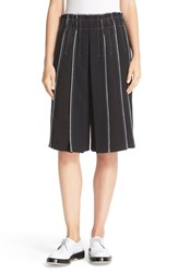 Dkny Women's Exposed Seam Panel Long Wool Shorts