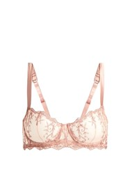 Fleur Of England Sofia Balcony Underwired Lace Bra Pink