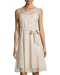 Catherine Catherine Malandrino Jocelyn Lace Fit And Flare Dress Khaki