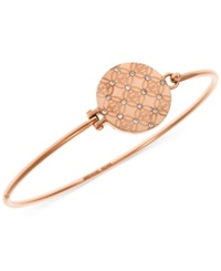 Michael Kors Monogram Disk Bangle Bracelet Rose Gold