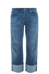 Christopher Kane Heart Boyfriend Jeans Blue