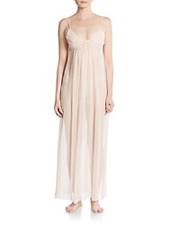 Jenny Packham Sheer Silk Gown Beige